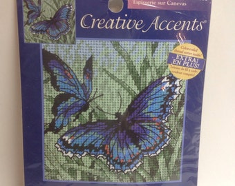 Creative accents---Butterflies in Blue  Cross stitch kit