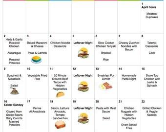 April 2017 Budget Menu Plan | Weekly Grocery List & Recipes | Budget Menu Plan | Monthly Menu | Meal Plan | Easter Menu