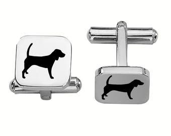 Beagle Cufflinks | Dog Cufflinks | Custom Cufflinks | Stainless Steel