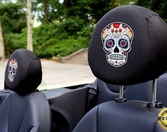 Skull Candy Auto SUV Head Rest Covers