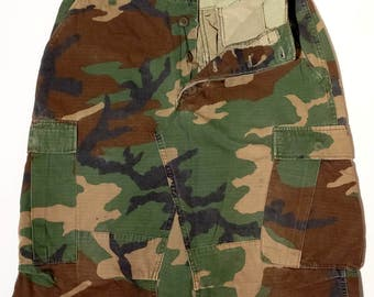 "Original camo skirt, ""Desert Storm"", made in USA, 27-31US, small, BDU, original us army, reworked military #143"