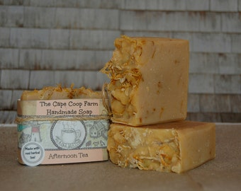Afternoon Tea herbal tea soap, cold process soap, all natural soap, handmade soap