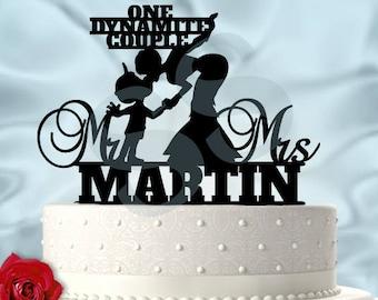 Fix It Felix With Sergeant Calhoun With Last Name Wedding Cake Topper