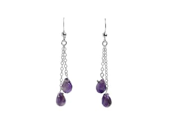 Hanging Amethyst Earrings