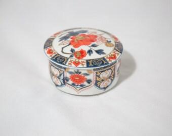Vintage Ashibi Japanese Porcelain Jewelry Trinket Dish
