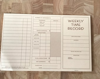 Weekly Time Record
