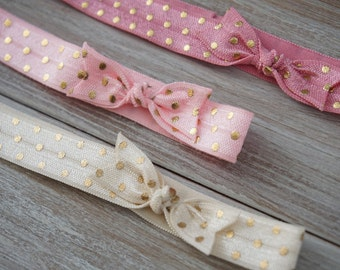 3 pack Gold dotted Headbands