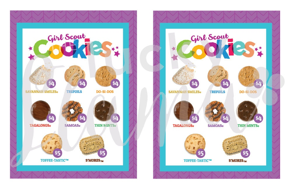 2018 girl scout cookie lanyard printable