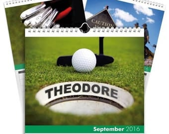 Personalised Golf Calendar - Desktop Calendar