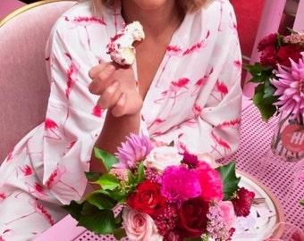 Valentines Day Gifts - Ladies Robe - Flamingo