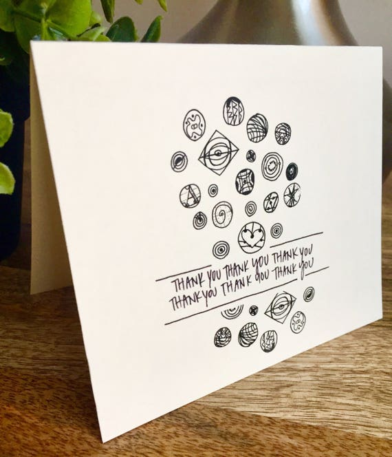geographic print, geo prints, space notecard, simple thank you card, handlettered stationery, Hand lettered card, thank you card funny