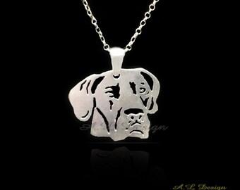 Sterling Silver Great Dane Necklace, Dane Necklace, Dane Pendant, Great Dane, Silver Dane, Dane Gift, Dane Art, Dane Dog, Dane Jewelary
