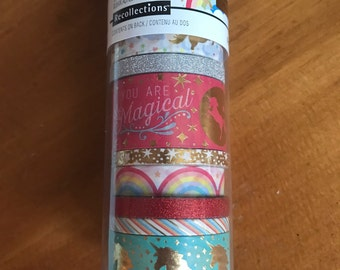 Recollections unicorn washi tape. Planner accessories. Planner supplies. Scrapbook. Tape. Michaels.