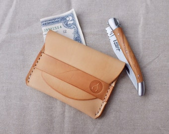 Handmade Leather Wallet, Minimalist Wallet, Personalized Leather Wallet, Flap Wallet, Card Holder