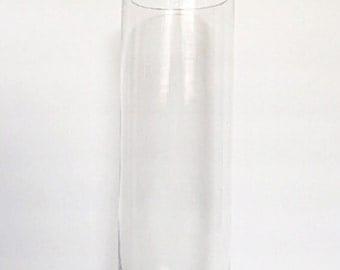 "Set Of (12) 12"" Tall, Cylinder Glass Vases// Wedding Centerpiece, Baptism Centerpiece, Party Decor, Wedding Glass Vases"