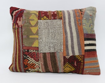 18x24 Patchwork Kilim Pillow Throw Pillow 18x24 Bohemian Kilim Pillow Sofa Pillow Home Decor Cushion Cover l  SP4560-721