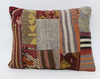 18x24 Patchwork Kilim Pillow Throw Pillow 18x24 Bohemian Kilim Pillow Sofa Pillow Home Decor Cushion Cover l  SP4560-721