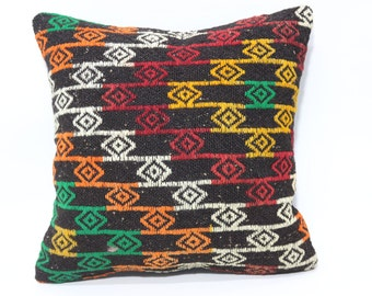 20x20 Embroidered Kilim Pillow Ethnic Pillow 20x20 Turkish Kilim Pillow Naturel Pillow Chic Pillow Fllor Pillow Boho Pillow SP5050-1528