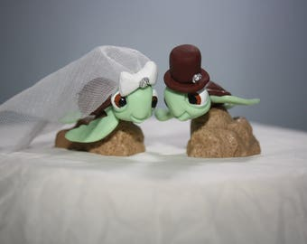 turtle wedding cake toppers turtle wedding etsy 21320