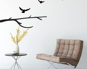 Birds Flying Away Branch Wall Decal