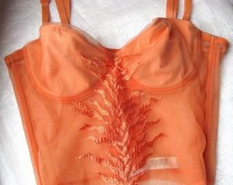 Orange PARAH Bra Corset With Removable Straps