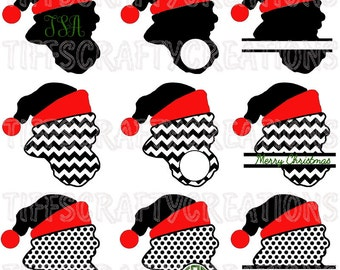 Santa svg cricut, santa svg, santa svg files, santa face svg dxf, santa face svg files, santa face cut file, santa face svg