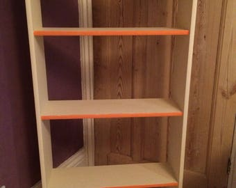 Vintage shabby chic painted shelves