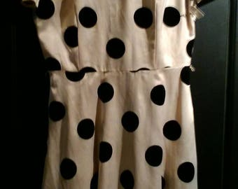 Polka dot silk mini! So vintage!