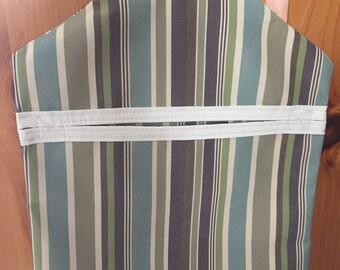 Sunbrella clothes pin holder,blue clothes pin hanger, holder for clothes pins, Sunbrella fade resistant fabric clot.
