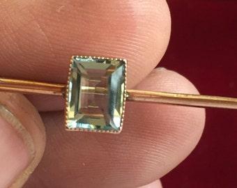 Antique 9ct gold Aquamarine brooch