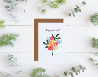 Happy Easter Greeting Card, Easter Card, Easter Greeting Card, Spring Card