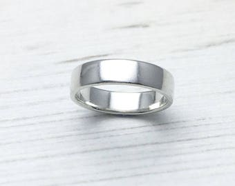 Plain Silver Ring, Simple Silver Band, Wedding Ring, Mens Silver Ring, Wedding Band, Simple Modern Wedding Ring, Handmade Wedding Ring,