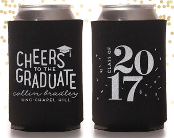 Graduation Party Custom Can Cooler Beer Cozy Favor