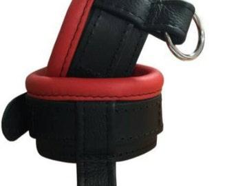 Real leather wrist cuffs