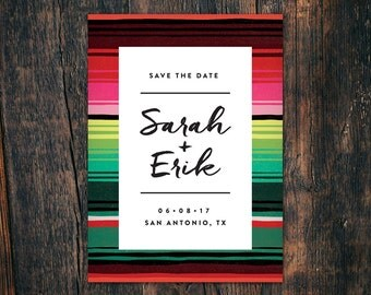 Southwestern Mexican Blanket Save-the-Date