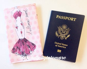 Paris Passport Cover,  Fabric Passport Holder, Travel Gift, Passport Protector, Passport Cover, Gift for Her, Int'l Vacation