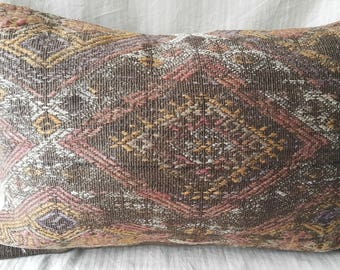 "16""24""Inches, Decorative Pillow, Kilim Pillow, Cushion Cover, Throw Pillow, Tribal Pillow, Turkish Kilim Pillow, Kilim Pillow, Lumbar Pillow"