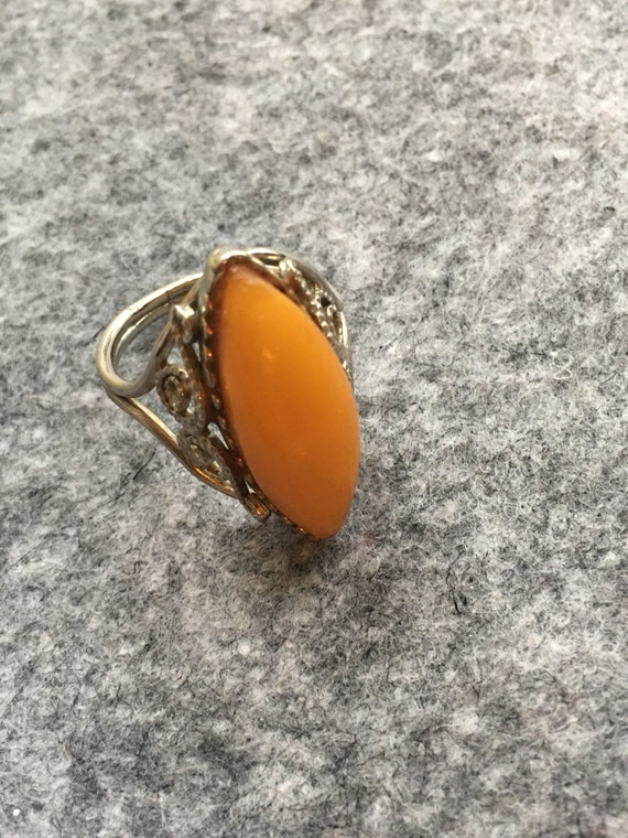 Antique natural amber ring