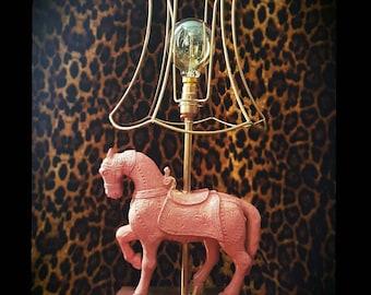 Vintage Carousel Horse Lamp