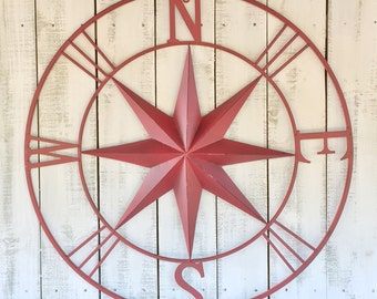 Metal Star Wall Compass