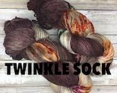 Hand Dyed Yarn | Twinkle Sock Yarn | Merino / Stellina / Nylon | 100 g. | Sweater Weather
