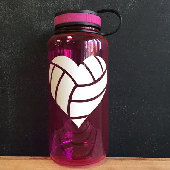 Volleyball Heart Water Bottle Wide Mouth Water Bottle