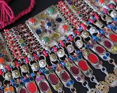 Reserved - VINTAGE KUCHI NECKLACE - Very Unusual Large Old Afghan Kuchi Choker Necklace