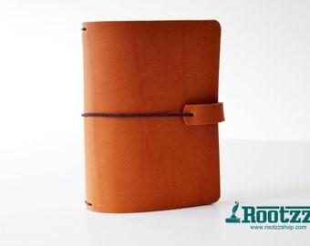 A6 Traveler's notebook cognac velvet - midori like- fauxdori