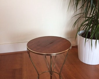 Mid century plant stand / side table / 50s / vintage / retro / brass / fifites