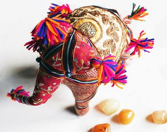 Decorative Elephant From Jaipur, Cloth Elephant, Stuffed Elephant, Majestic Elephant , Indian Fabric Elephant