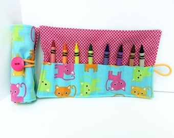 Crayon Holders - Cats - Crayola Crayons - New Mother Gift - Mother's Day Gift - Coloring Supplies - Party Favor - Car Trip - Baby Shower