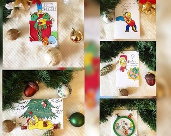 2017 Simpsons Christmas Cards Collection