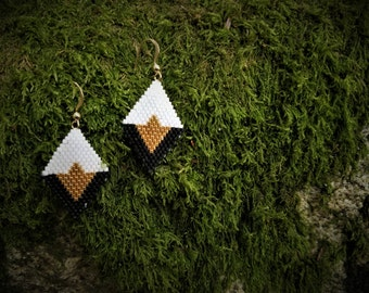 Rock n' Roll Hand Woven Diamond Earrings