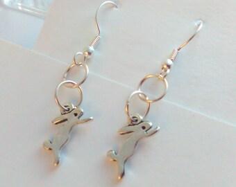rabbit earrings, bunny earrings, rabbit drop earrings, earrings, rabbit, rabbits, bunnies,  handmade earrings, drop earrings, earrings, hare